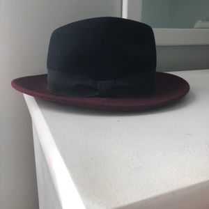 Maroon Top Hat